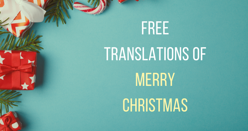 free translations of merry christmas
