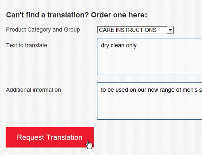 its as easy as a click to request a new translation