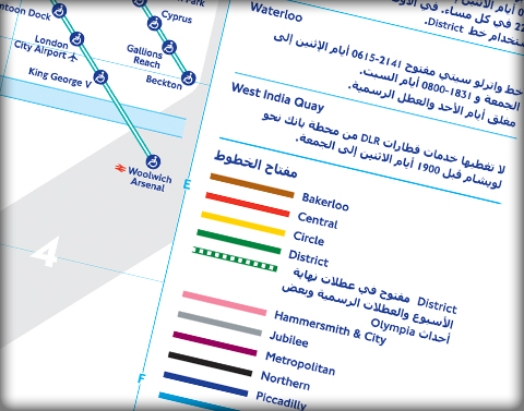 The Tube Map in Arabic
