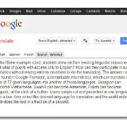 Google Plots Universal Translator