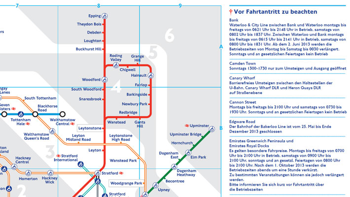 German Translation design for Tube Map