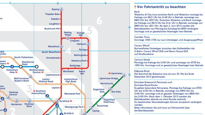 German Translation design for Tube Map