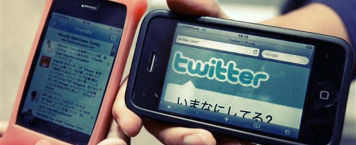 Twitter in Japanese using mobile devices