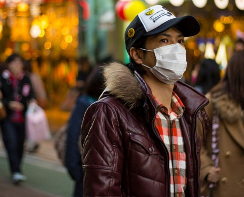 Masks are a common sight on the streets of Tokyo