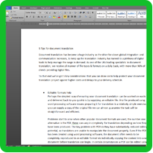 Basic Document Translation