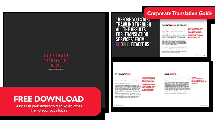 Corporate Translation Guide