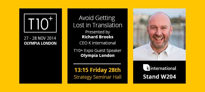 Richard Brooks Guest Speaker at T10+ 2014