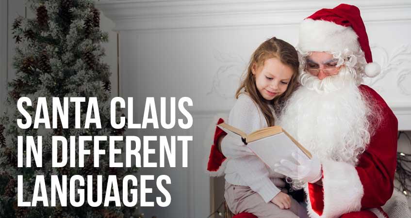 Santa Claus in Different Languages