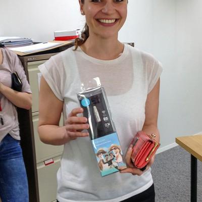 Katarina wins a selfie stick