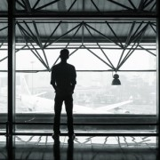 International business expansion - man at airport