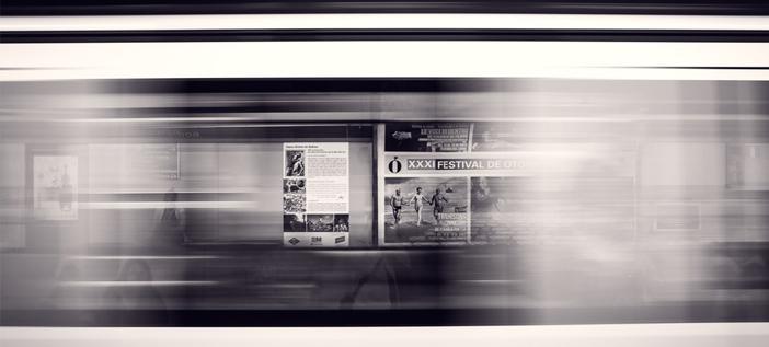 International marketing – adverts on a train line