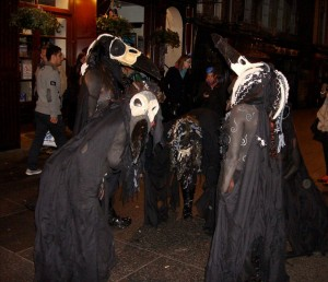 Samhain procession preformers