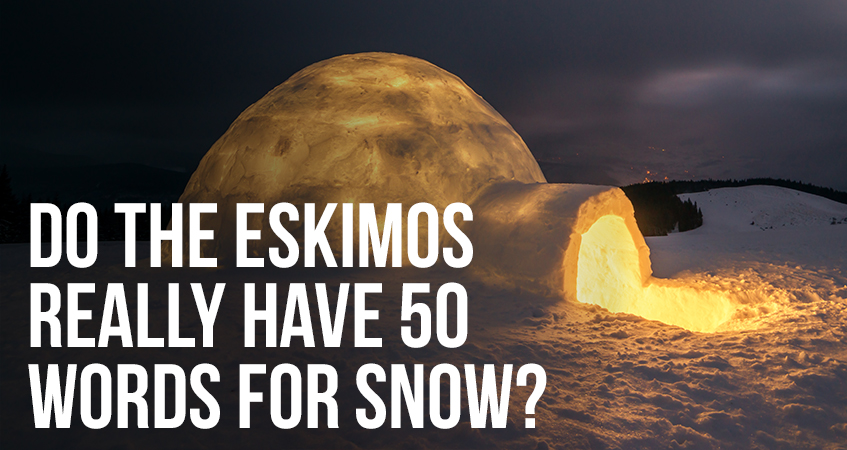 Do the Eskimos Really have 50 Words for Snow