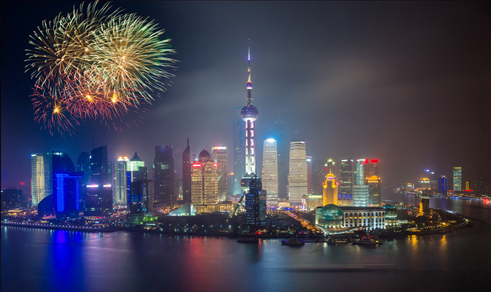 Chinese New Year Fireworks - Shanghai