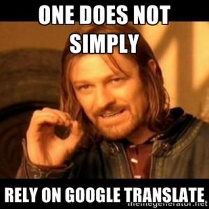 boromir google translate