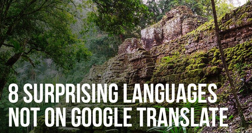 8 Surprising Languages Not on Google Translate