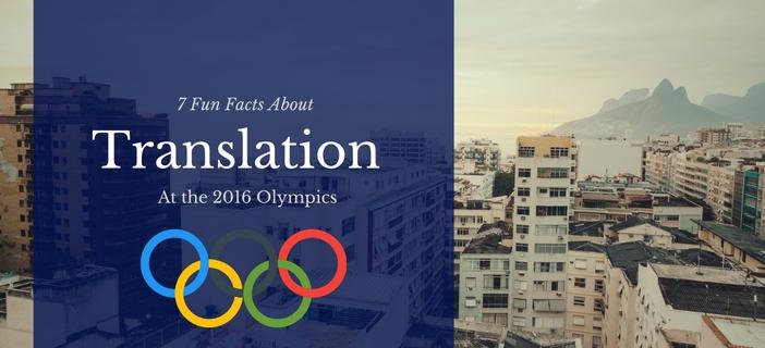 translation at the 2016 Olympics