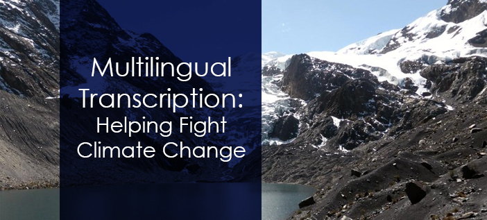 multilingual transcription helping fight climate change