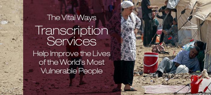 transcription services for the vulnerable