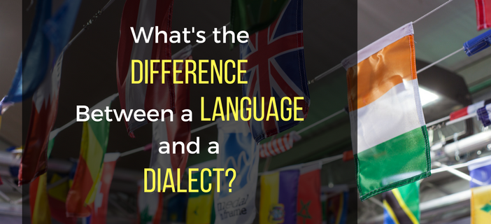 difference between a language and a dialect
