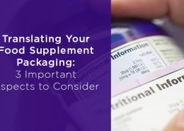 Translating Your Food Supplement Packaging