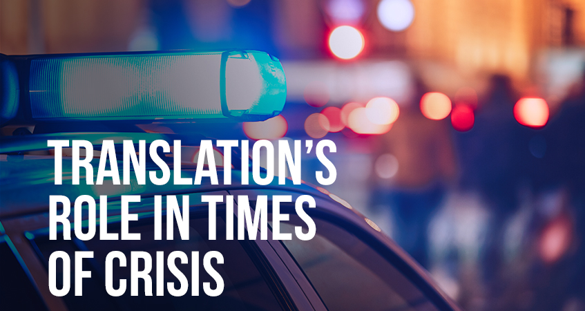 Translations role in times of crisis