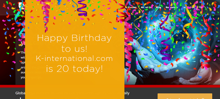 K-international.com is 20 today