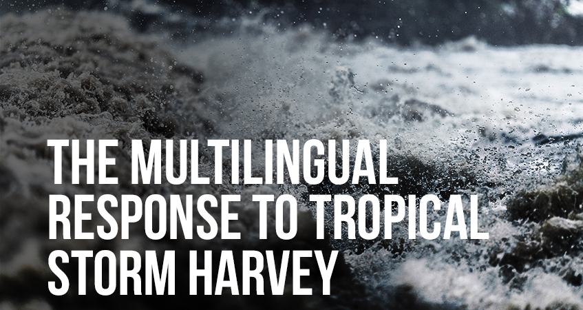 The Multilingual response to tropical storm Harvey