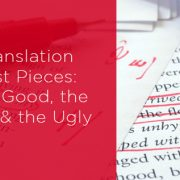 Using translation test pieces