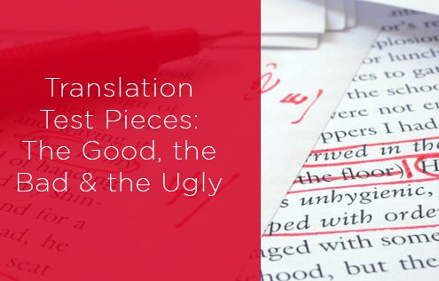 Using translation test pieces