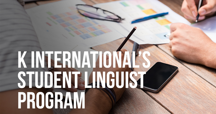 k internationals student linguist programme