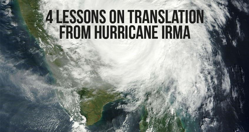 Translation from Hurricane Irma