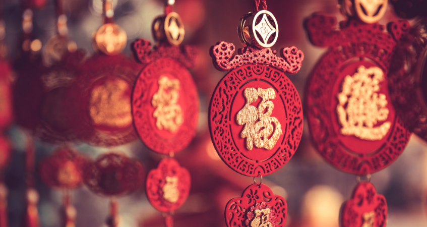 Chinese new year pendants