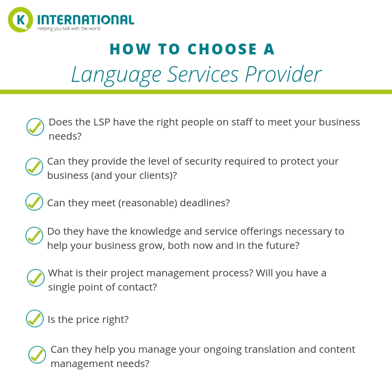How to choose a language services provider