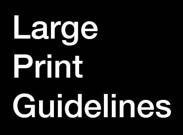 Large print guidelines