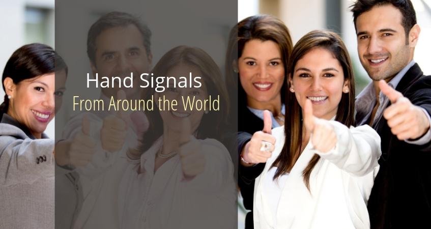 hand signals around the world