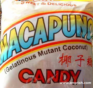 gelatinous mutant coconut candy