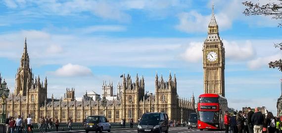 London, big ben, red bus